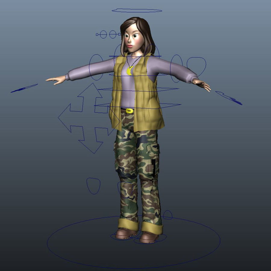 Character Elly royalty-free 3d model - Preview no. 1