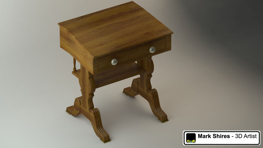 Senado Desk royalty-free 3d model - Preview no. 4