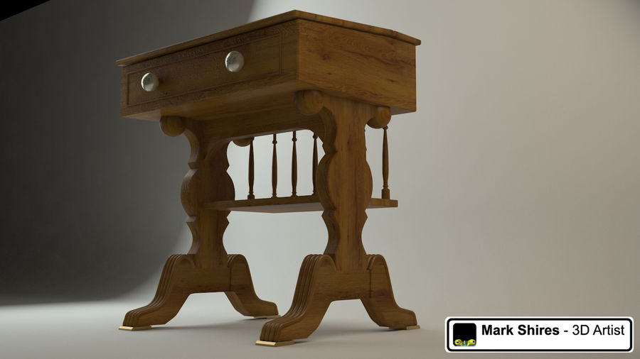 Senado Desk royalty-free 3d model - Preview no. 1