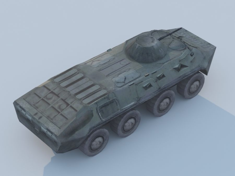 BTR-80 royalty-free 3d model - Preview no. 3