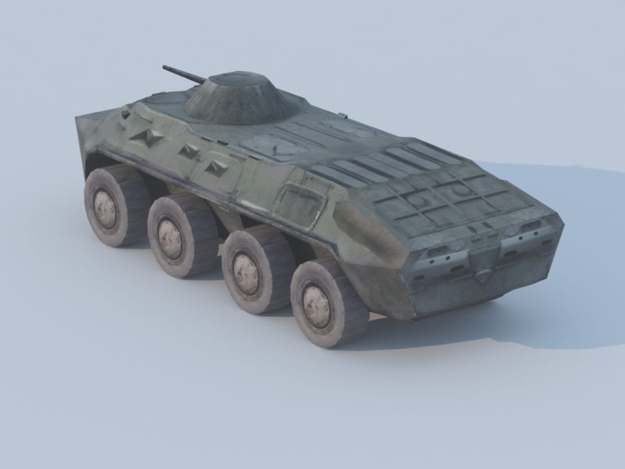 BTR-80 royalty-free 3d model - Preview no. 2
