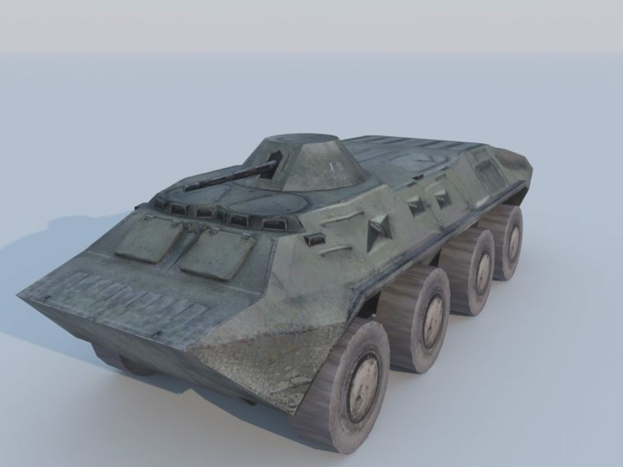 BTR-80 royalty-free 3d model - Preview no. 1