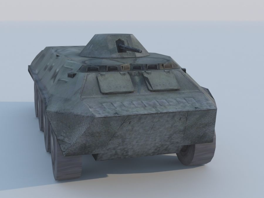 BTR-80 royalty-free 3d model - Preview no. 4