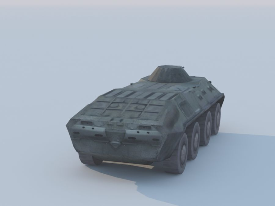 BTR-80 royalty-free 3d model - Preview no. 5