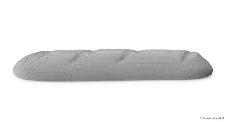 Long Bread royalty-free 3d model - Preview no. 12