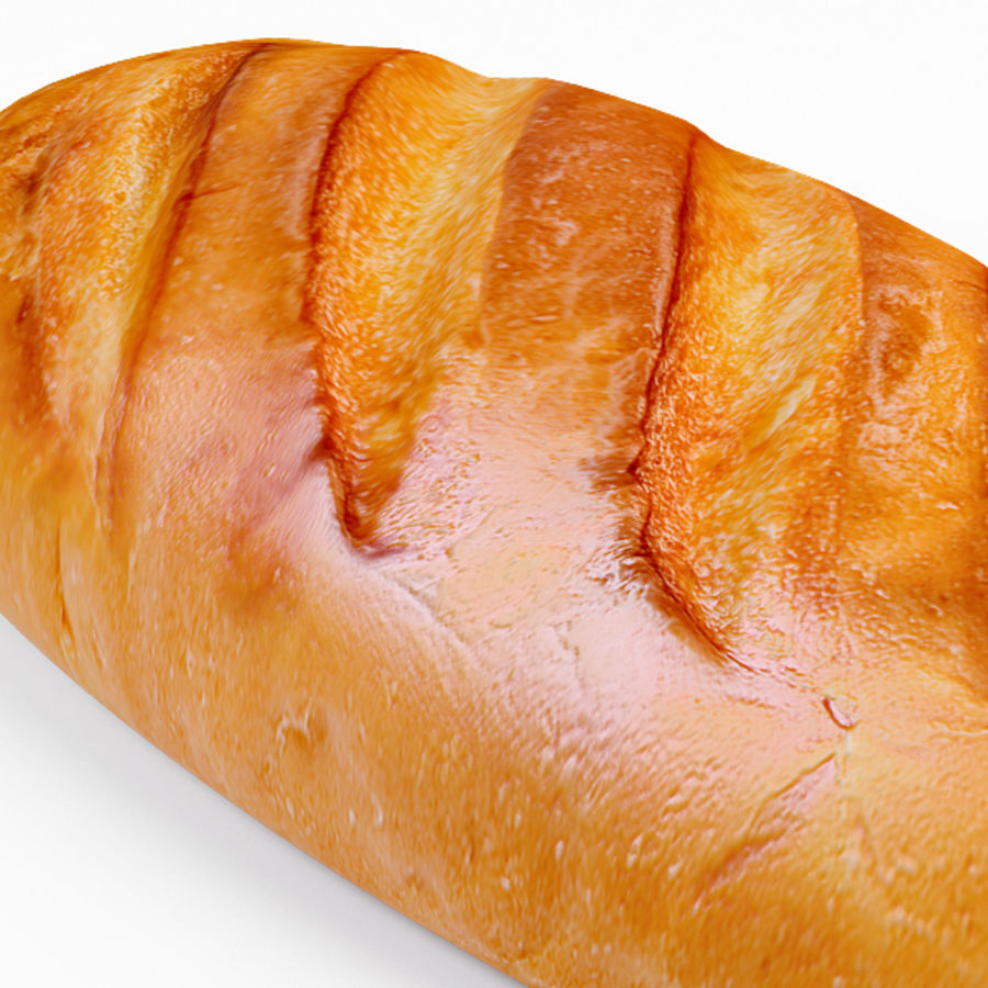 Bread royalty-free 3d model - Preview no. 10