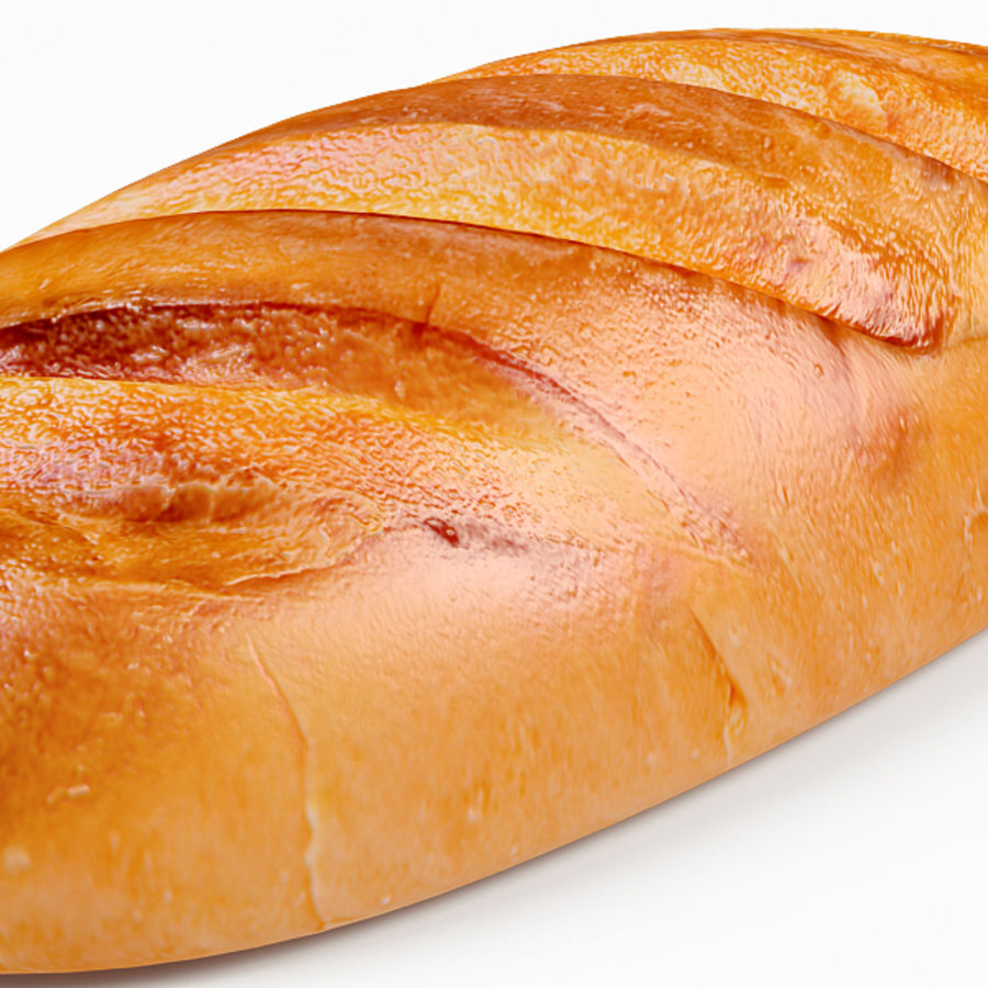 Bread royalty-free 3d model - Preview no. 8