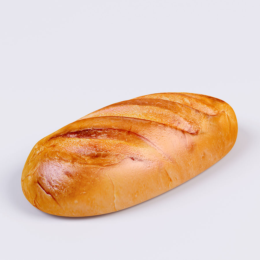 Bread royalty-free 3d model - Preview no. 2