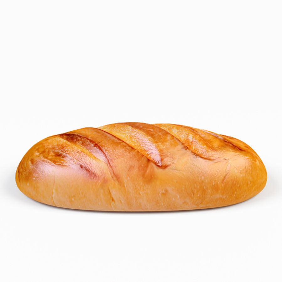 Bread royalty-free 3d model - Preview no. 5