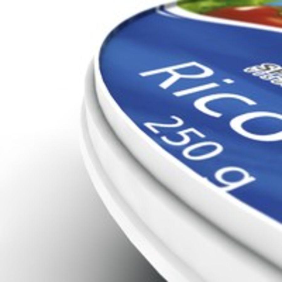 Confezione di ricotta royalty-free 3d model - Preview no. 4