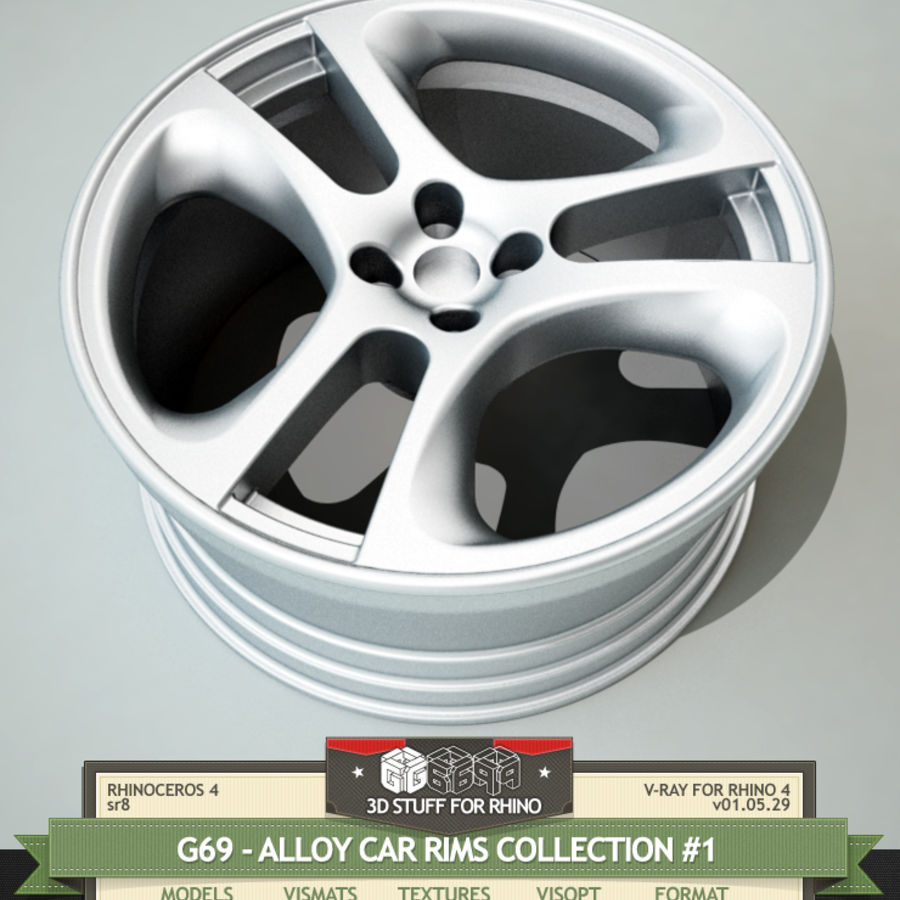 G69-ALLOY CAR RIMS COLLECTION #1 3D Model $10 -  unknown