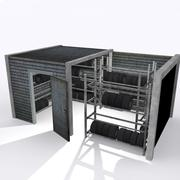 Storage For Tires (Game ready low poly) 3d model