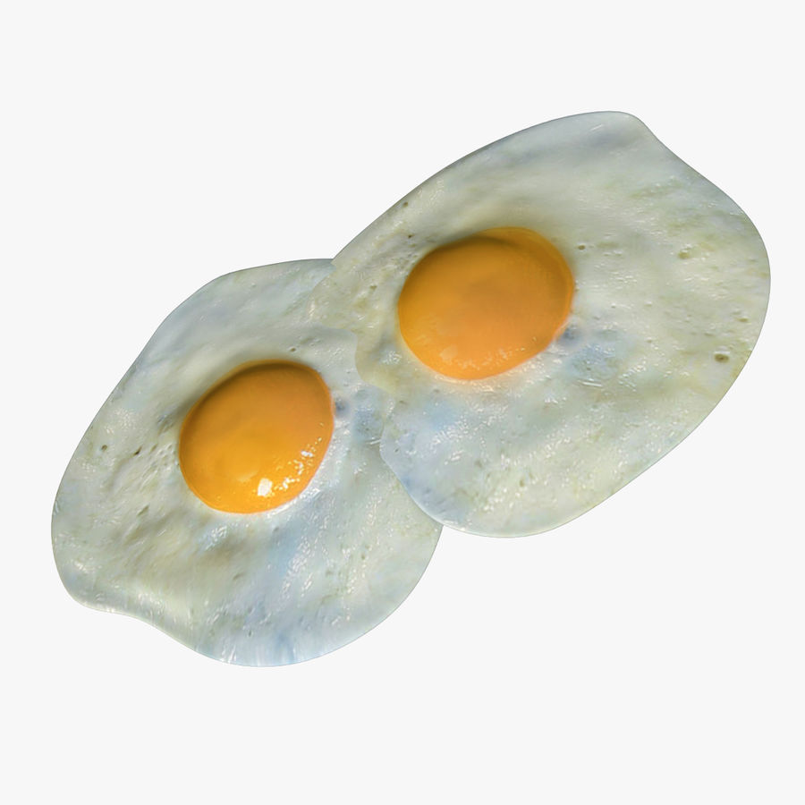 Fried Eggs royalty-free 3d model - Preview no. 1