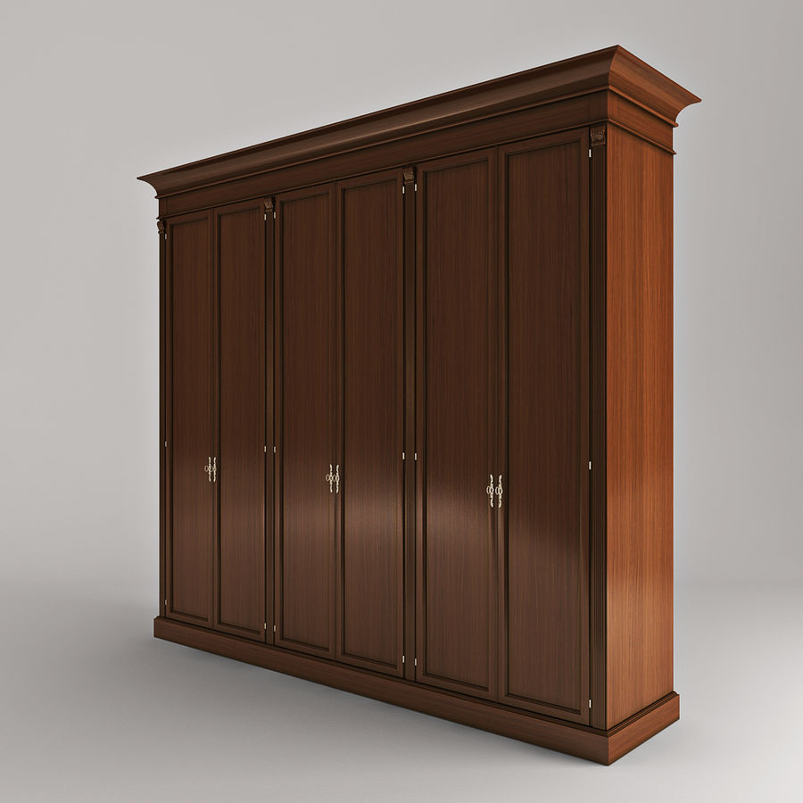 Classic wardrobe royalty-free 3d model - Preview no. 2