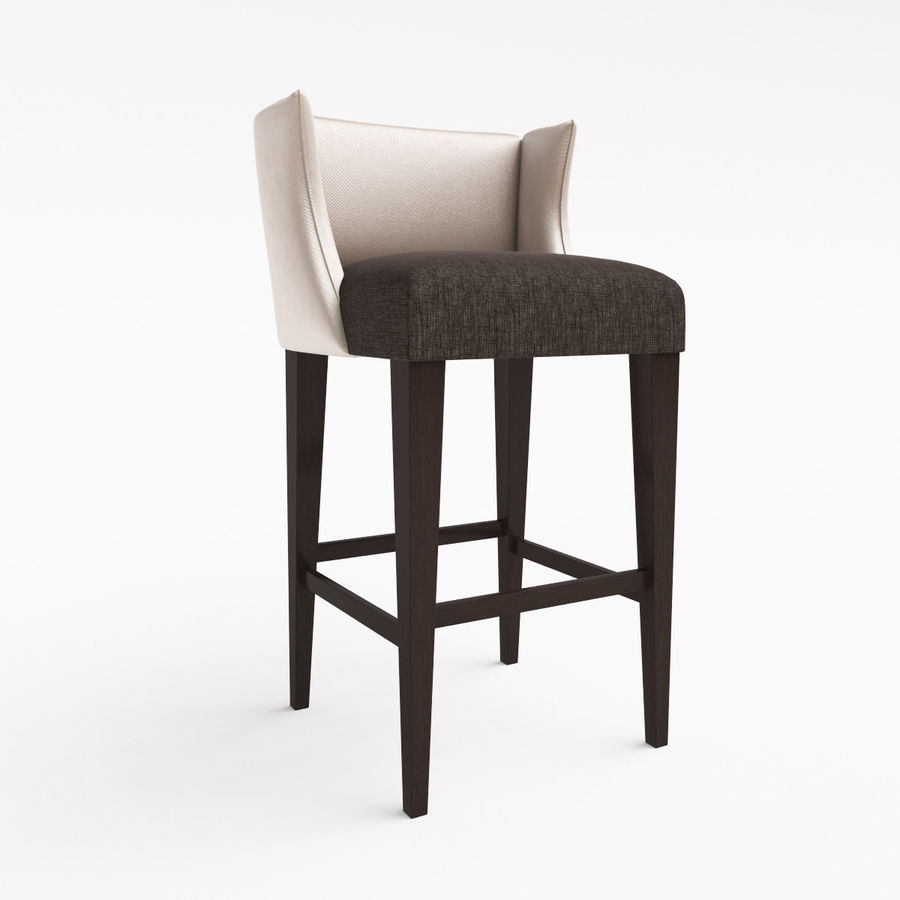 Hill Cross Furniture Duchess   Bar Stool Royalty Free 3d Model   Preview No.
