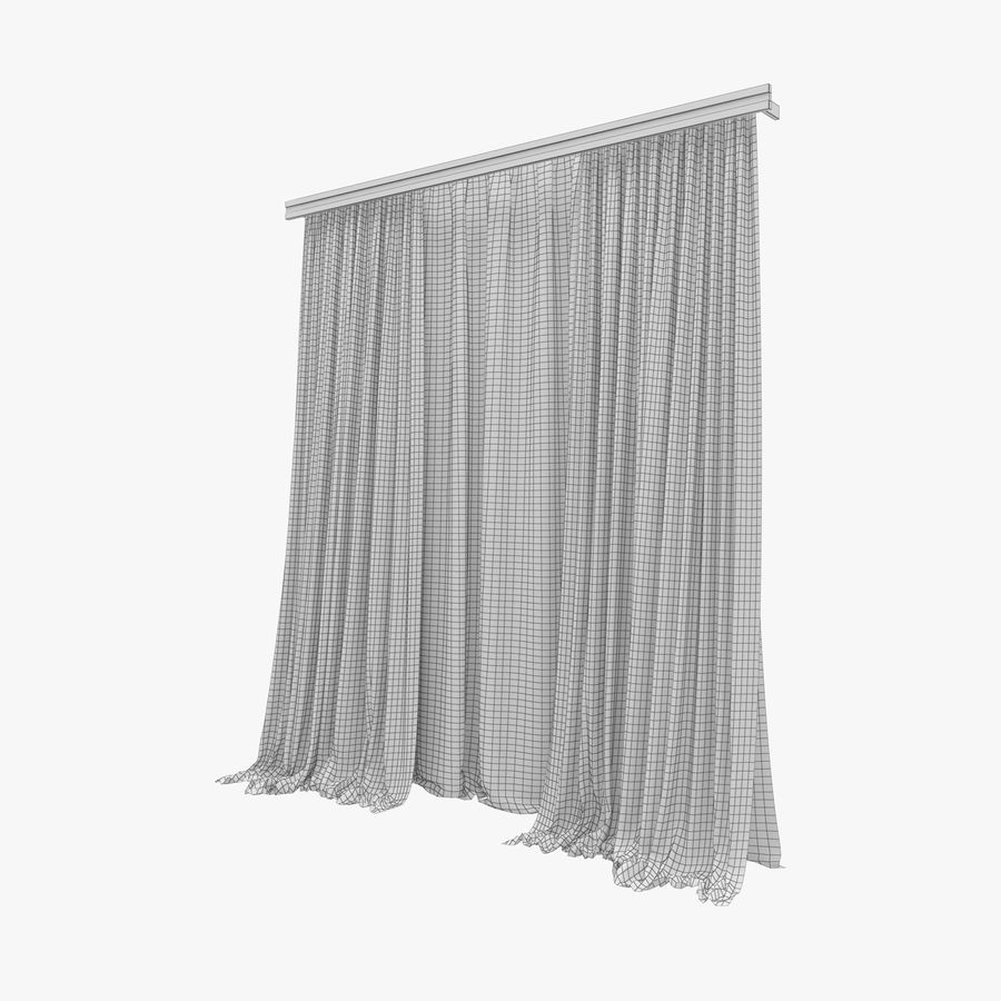 Curtains royalty-free 3d model - Preview no. 6