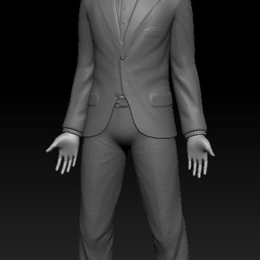 3d Model - Male Underwear & Suit royalty-free 3d model - Preview no. 10