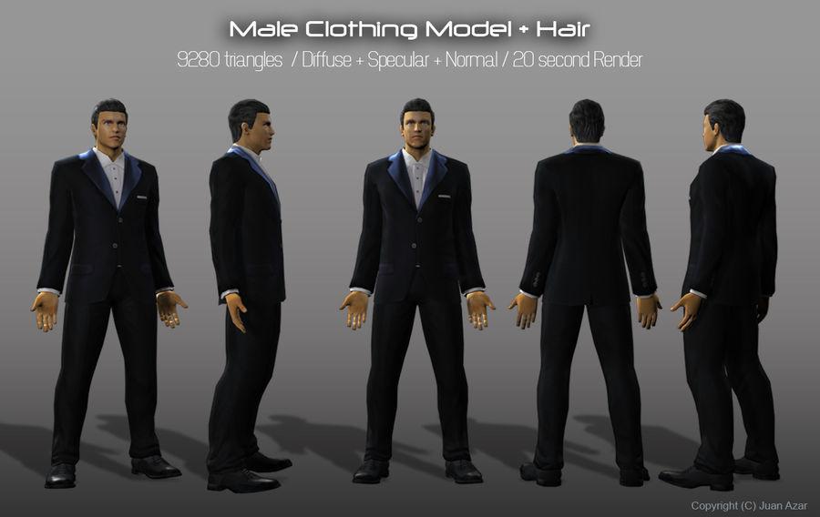 3d Model - Male Underwear & Suit royalty-free 3d model - Preview no. 6