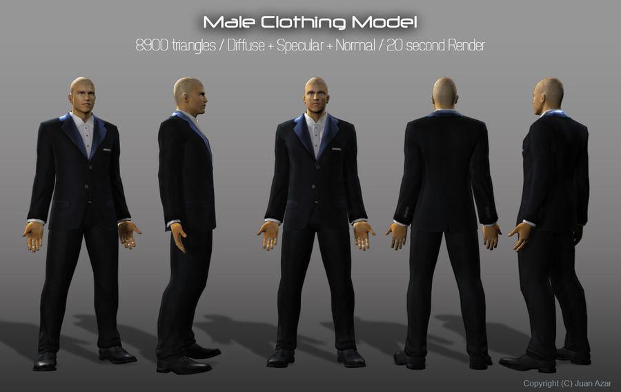 3d Model - Male Underwear & Suit royalty-free 3d model - Preview no. 4