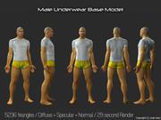 3d Model - Male Underwear & Suit 3d model