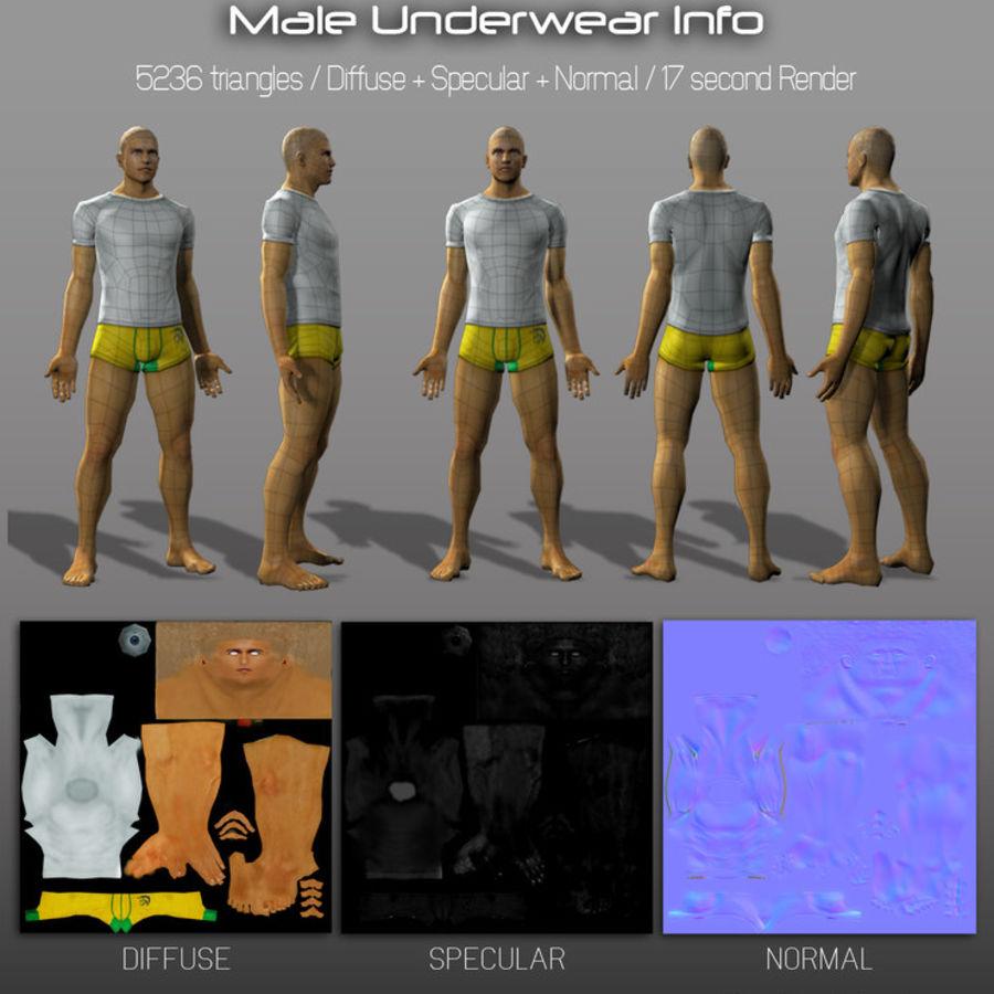 3d Model - Male Underwear & Suit royalty-free 3d model - Preview no. 2