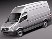 Mercedes Sprinter II Van Short High 3d model