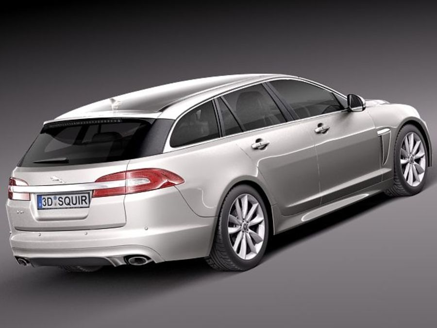 jaguar xf sportbrake 2013 3d model 129 obj max lwo. Black Bedroom Furniture Sets. Home Design Ideas