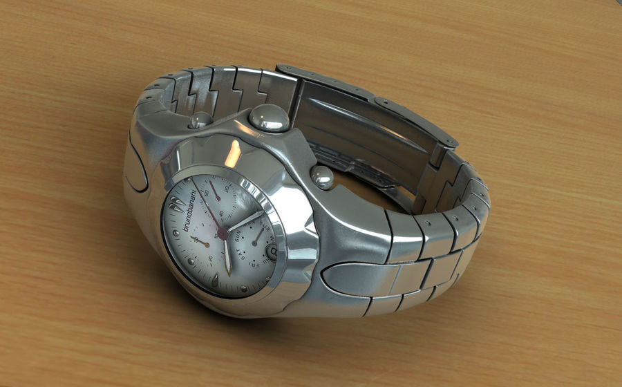 watch clock royalty-free 3d model - Preview no. 1
