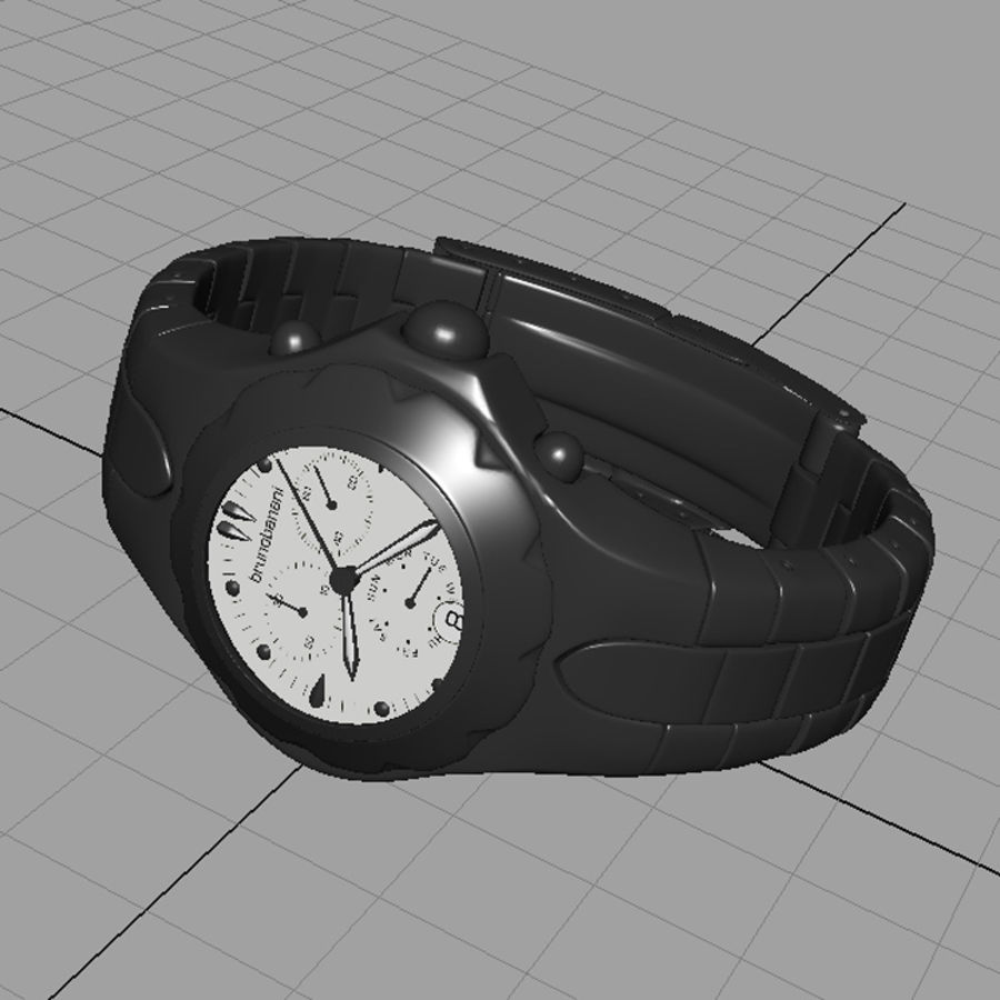 watch clock royalty-free 3d model - Preview no. 2