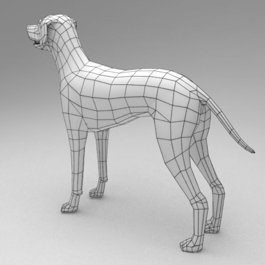 Dalmatian rigged royalty-free 3d model - Preview no. 8