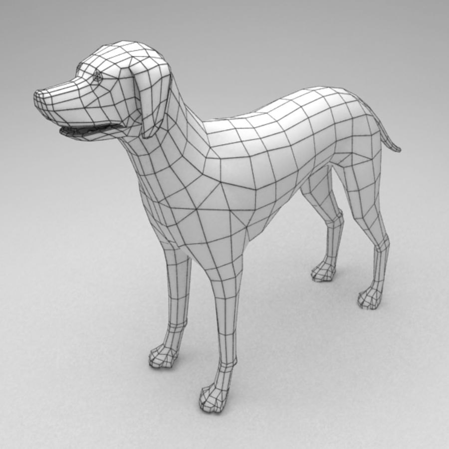 Dalmatian rigged royalty-free 3d model - Preview no. 7