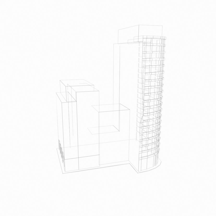 Building 017 royalty-free 3d model - Preview no. 6