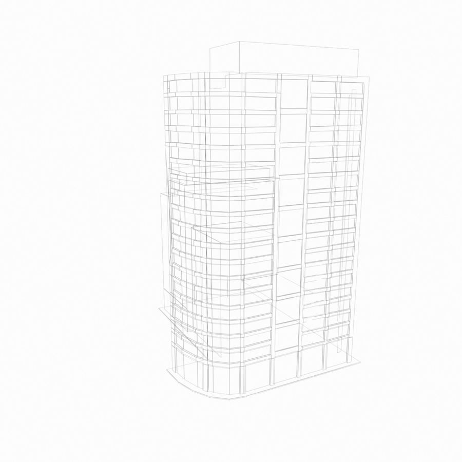 Building 017 royalty-free 3d model - Preview no. 8