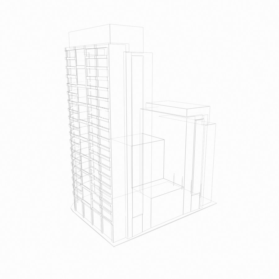 Building 017 royalty-free 3d model - Preview no. 2
