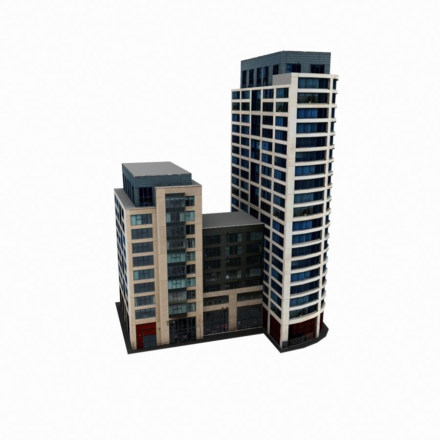 Building 017 royalty-free 3d model - Preview no. 5