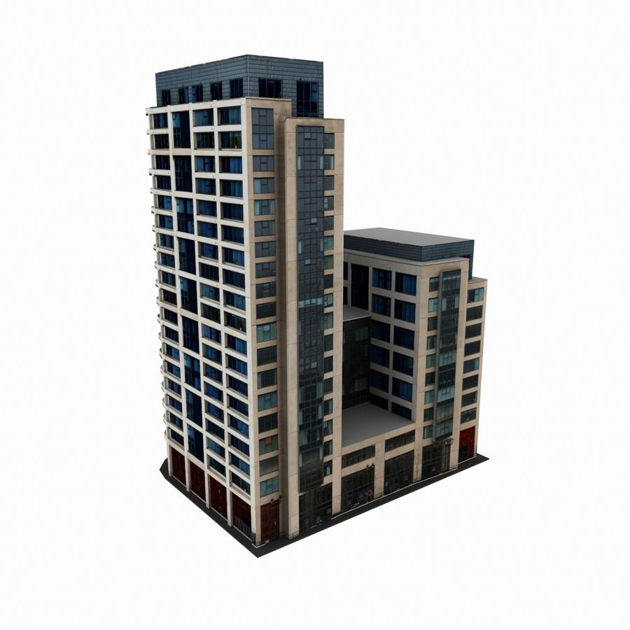 Building 017 royalty-free 3d model - Preview no. 1
