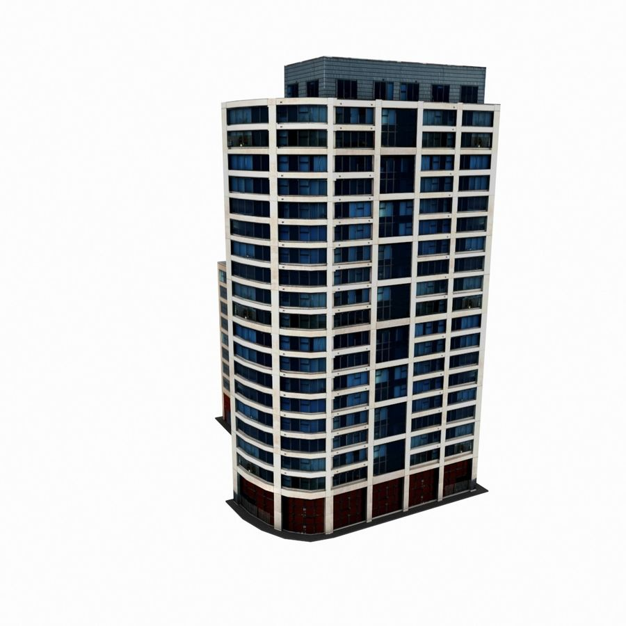 Building 017 royalty-free 3d model - Preview no. 7