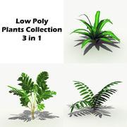 Plantas de baixo poli 3 em 1 3d model