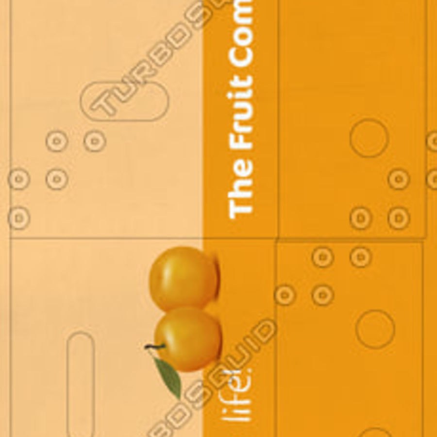 Fruit & Vegetable Box (Large) royalty-free 3d model - Preview no. 4