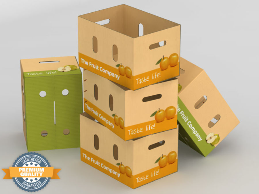Fruit & Vegetable Box (Large) royalty-free 3d model - Preview no. 1