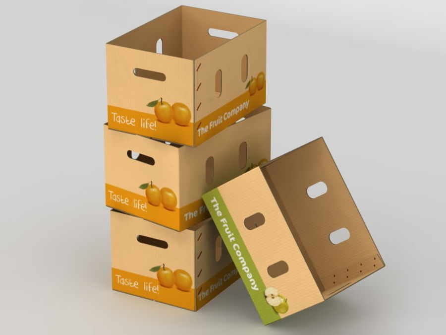 Fruit & Vegetable Box (Large) royalty-free 3d model - Preview no. 3