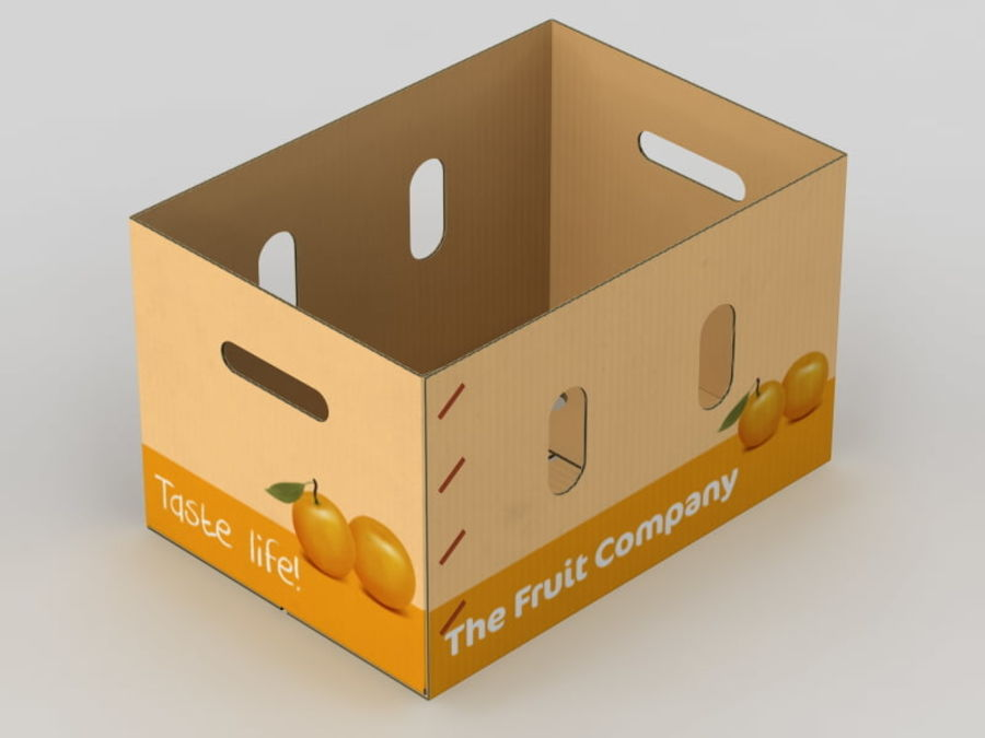 Fruit & Vegetable Box (Large) royalty-free 3d model - Preview no. 6