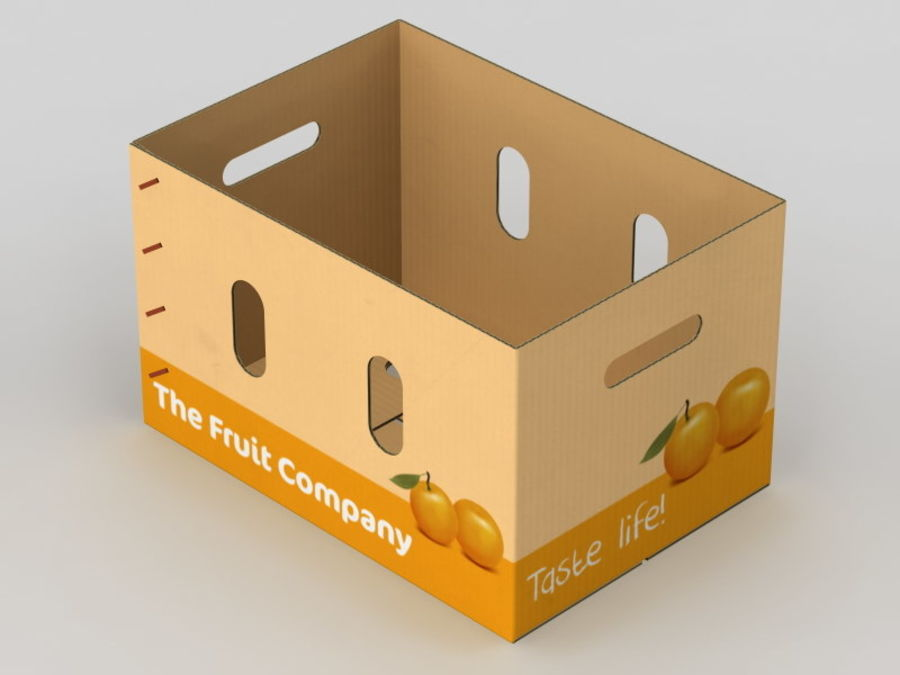 Fruit & Vegetable Box (Large) royalty-free 3d model - Preview no. 7
