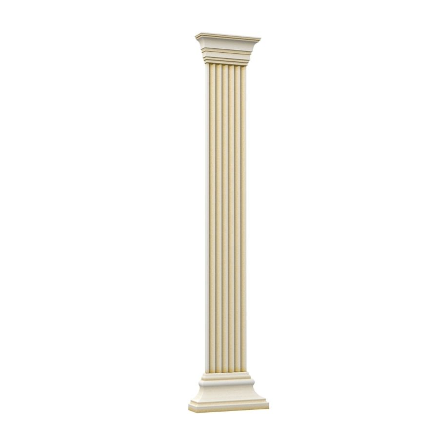 Petergof KP4 pilaster wall architecture decor plaster royalty-free 3d model - Preview no. 3