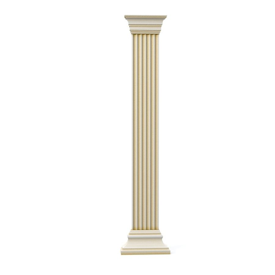 Petergof KP4 pilaster wall architecture decor plaster royalty-free 3d model - Preview no. 1
