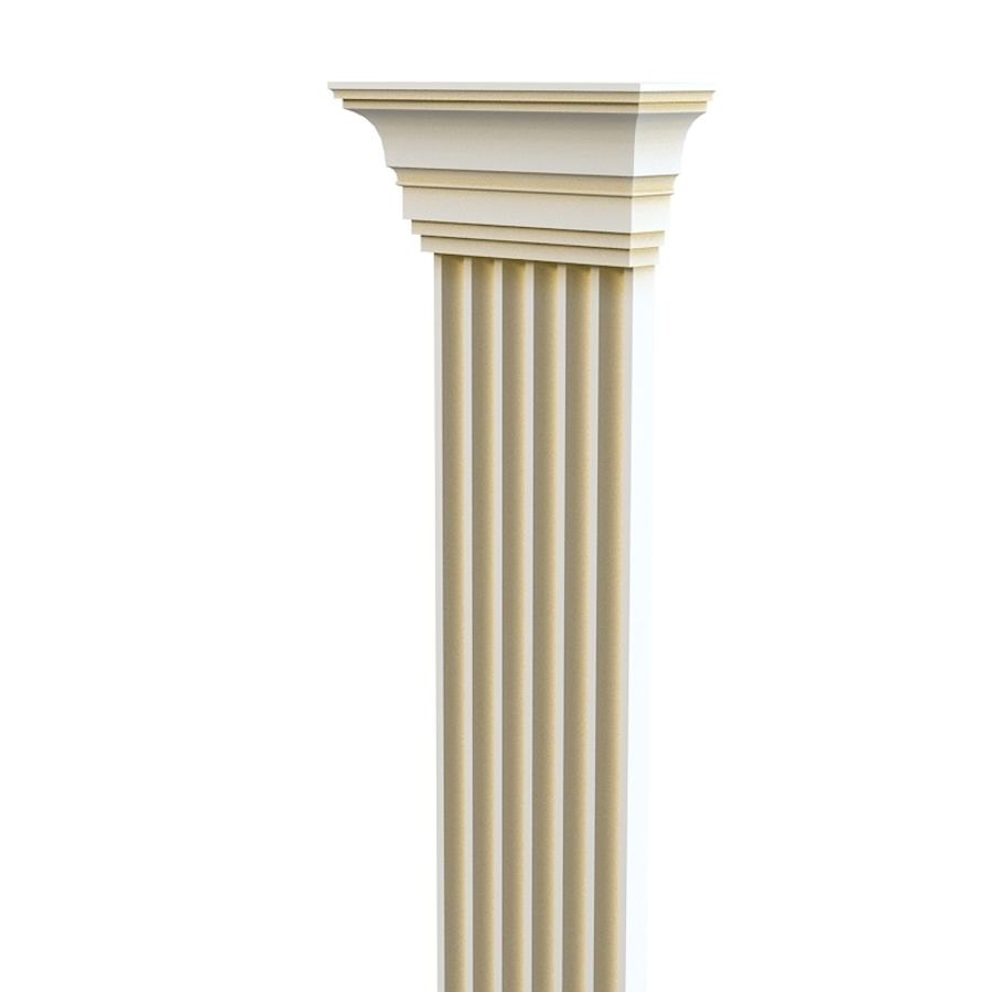 Petergof KP4 pilaster wall architecture decor plaster royalty-free 3d model - Preview no. 2