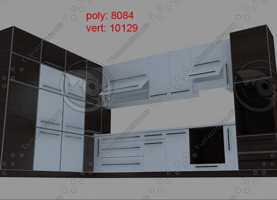 厨房家具03 royalty-free 3d model - Preview no. 8