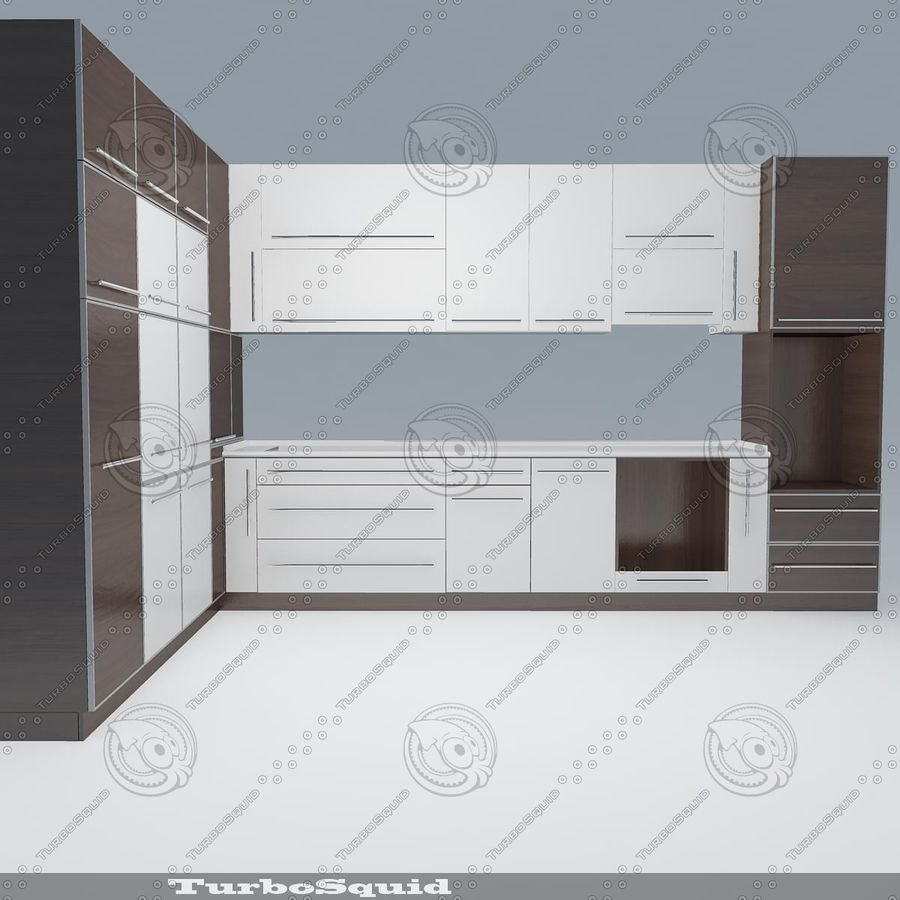 厨房家具03 royalty-free 3d model - Preview no. 10