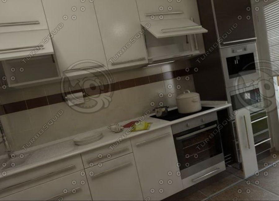 厨房家具03 royalty-free 3d model - Preview no. 2