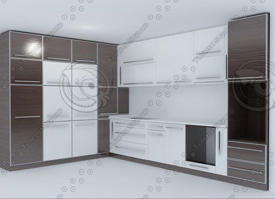 厨房家具03 royalty-free 3d model - Preview no. 3